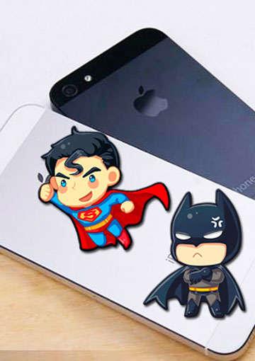 手机屏幕清洁贴纸-超人/蝙蝠侠