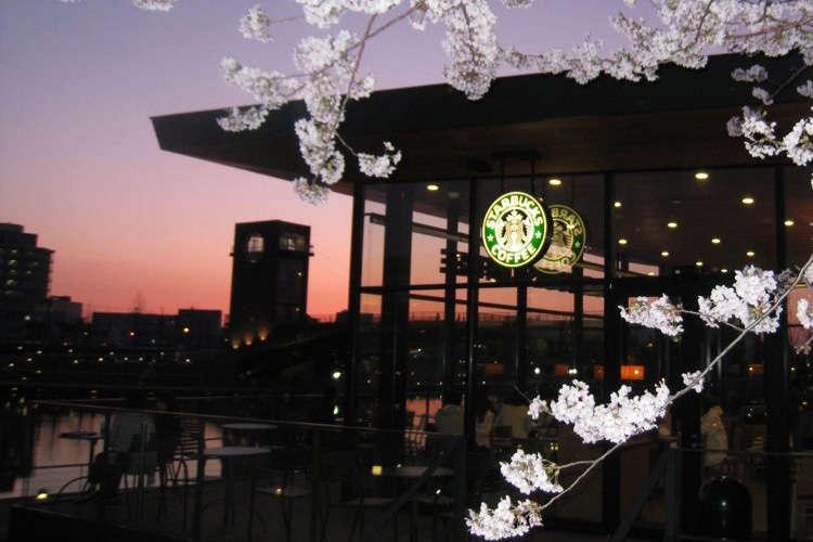 星巴克日本富山环水公园店
