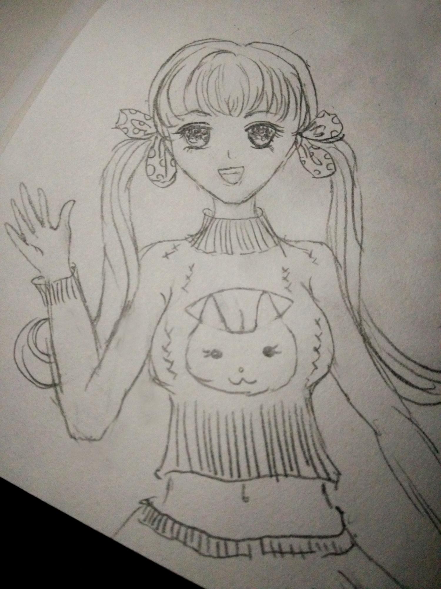 毛衣设计图稿手绘
