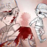 工作细胞,动漫,绘画,白血球,