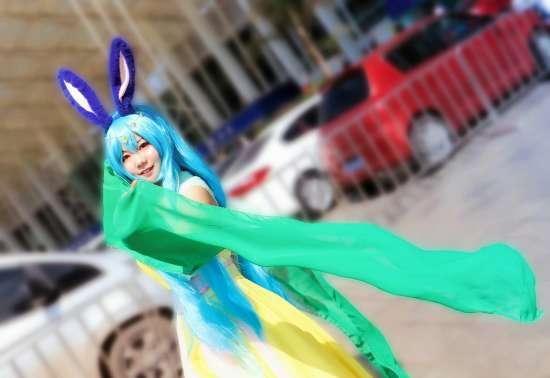 cos,冰灵,蓝兔,漫展