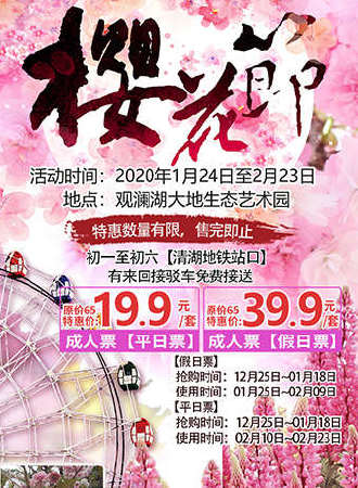 2020深圳观澜湖第四届樱花节