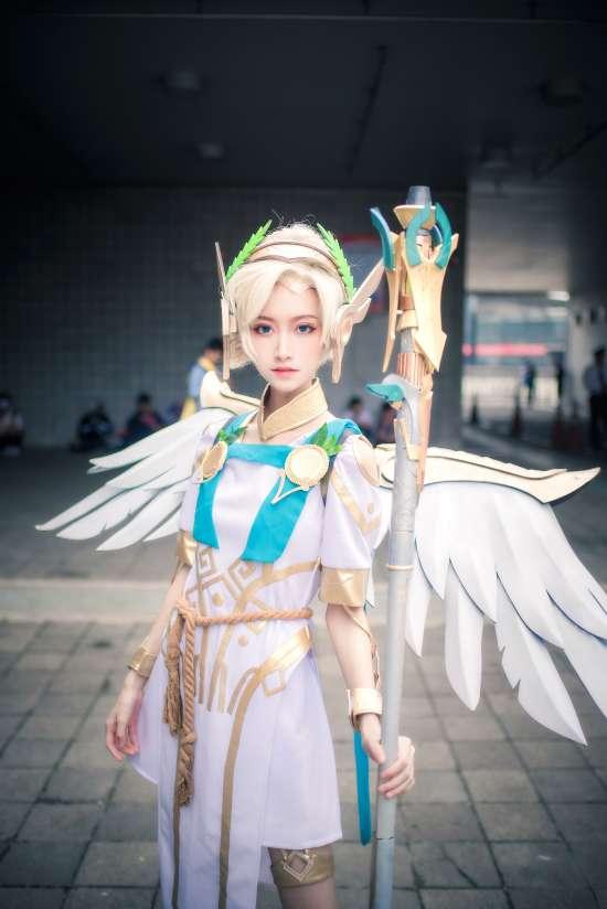 萤火虫,cosplay,美女,天使,场照,